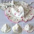 Детские hat 0-3-6-12 месяцев возраст сезон новорожденный ребенок шляпа летом хлопка водолазка крышка детские шапки для мужчин и женщин