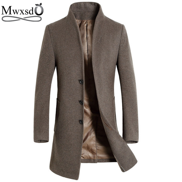 Aliexpress.com : Buy Mwxsd brand Men Woolen Jacket Mens Middle ...