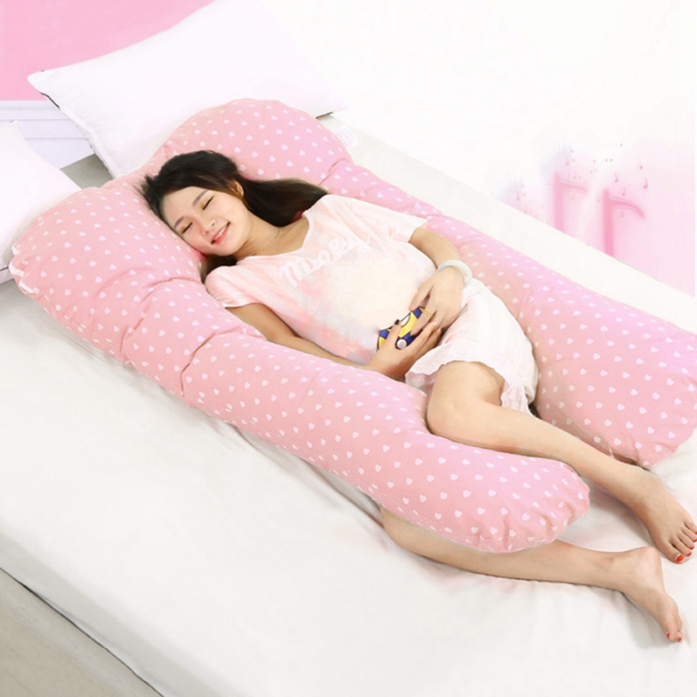 Cuscino di cura per Le Donne Incinte Allattamento Cuscino Gravidanza U Forma Cuscino di Supporto Alla Vita Pancia Maternità Sagomato 130*70