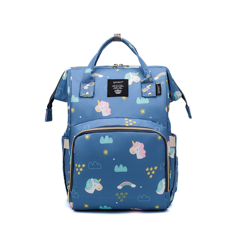 Fashion Mummy Multifunctional Large Capacity Diaper Bag Baby Care Nappy Bag Baby Mom Outdoor Travel Backpack Baby Stroller Bag