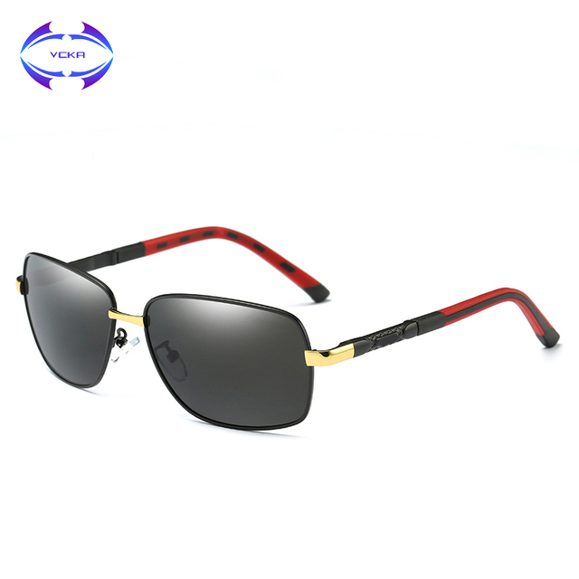 d8521e084a66 VCKA 2017 New Square Men Sunglasses High Quality Retro Classic Polarized  Sun Glasses Vintage Male Driving UV400 Eyewear Oculos