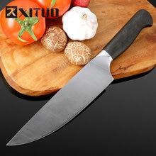 Xituo grau superior afiada faca alemanha 4410 aço inoxidável 8 in em cortador de carne congelada chef faca de cozinha faca salmão faca de corte