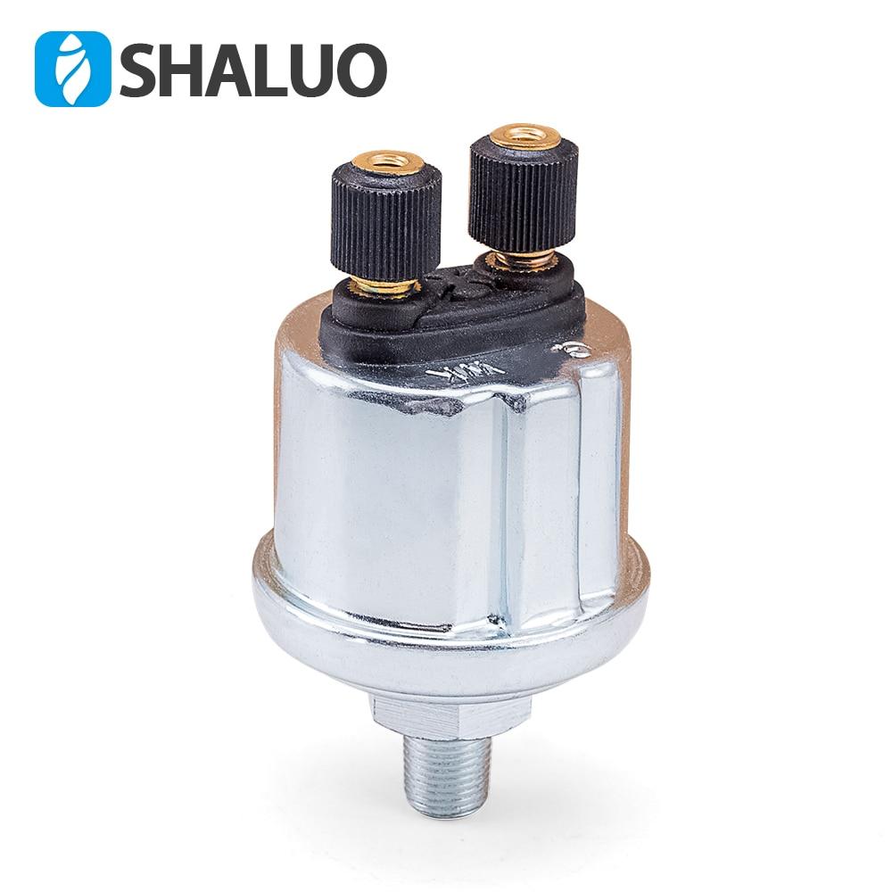 1/8NPT VDO Oil Pressure Sensor 0 To 10 Bars Diesel Generator Part 10mm Stainless Crew Plug Alarm Pressure Sensor