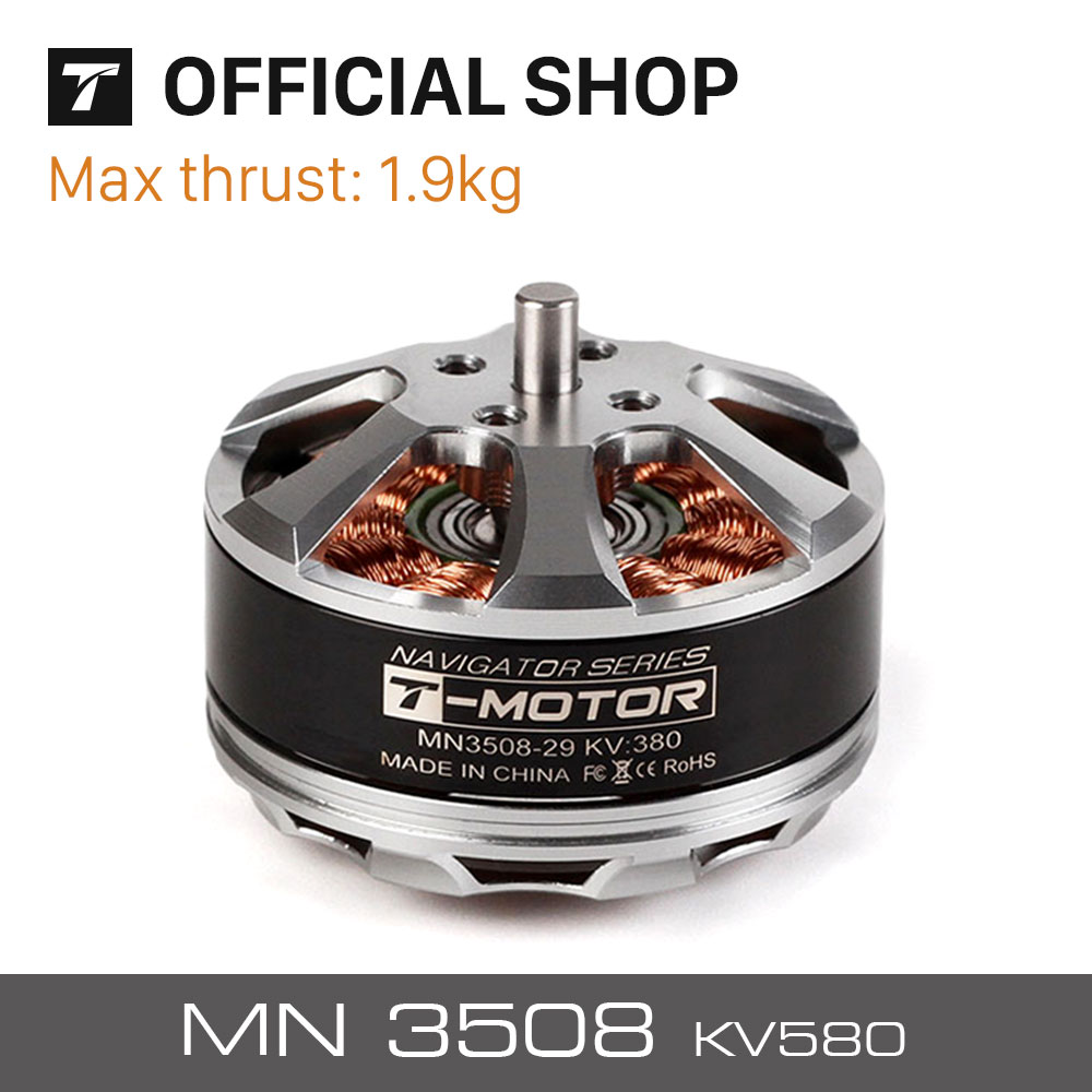 T-motor electric RC Model Part MN3508 KV580 Outrunner Brushless radio control Motor for multirotor copter 4set lot universal rc quadcopter part kit 1045 propeller 1pair hp 30a brushless esc a2212 1000kv outrunner brushless motor