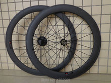 Newest 700C front 50mm rear 60mm tubular rims Road bicycle matte 3K full carbon bike wheelset