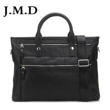 J.M.D Milled Leather Bag Fashion Men Handbags Cowhide Genuine Leather Crossbody Bag Men's Travel Bags Laptop Briefcase Bag