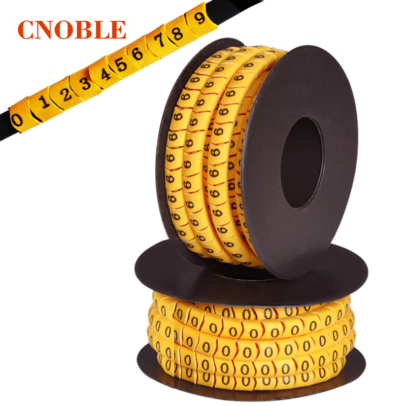 1.5 square 1.5mm cable marker Mark tube digital (0-9) A box of 10 volumes high quality
