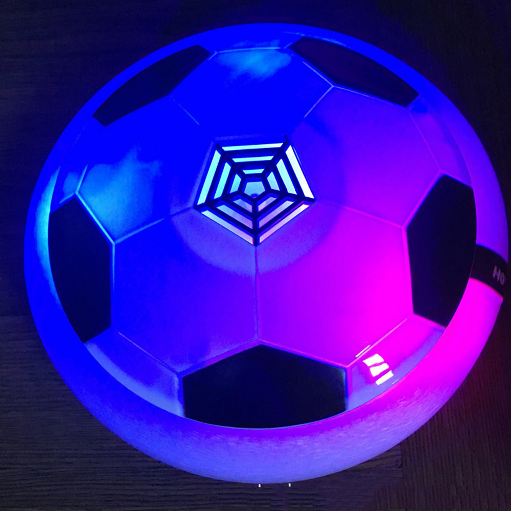 Free epacket Sales Air Power Soccer Balls Disc Funny LED Light Flashing Arrival Indoor Football Toy futbol game Kid dorpship