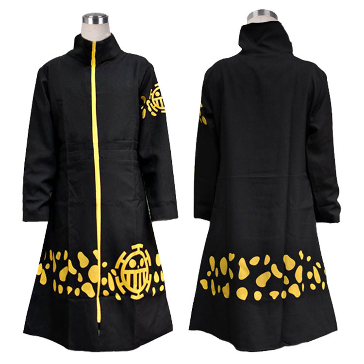 Anime One Piece Trafalgar Law Hoodie Cloak Cape Robe Hooded Long Trench Halloween Cosplay For Woman Man Costumes Pluz Size