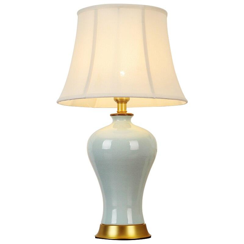 Медь Керамика настольная лампа ночники европейское исследование лампы теплый для Спальня Гостиная украшения Интимные аксессуары