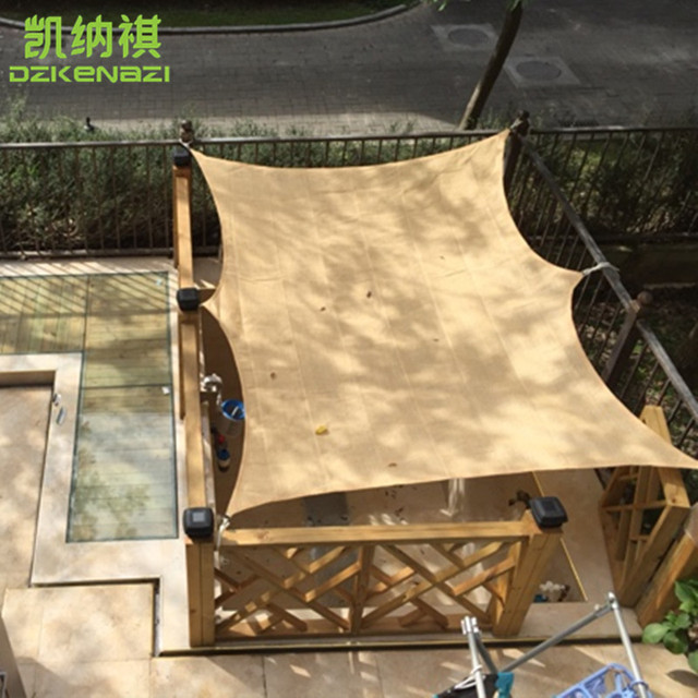 Customized Size 185gsm HDPE 95% UV Material To Make Sun Shade Sail Garden  Patio Sunscreen