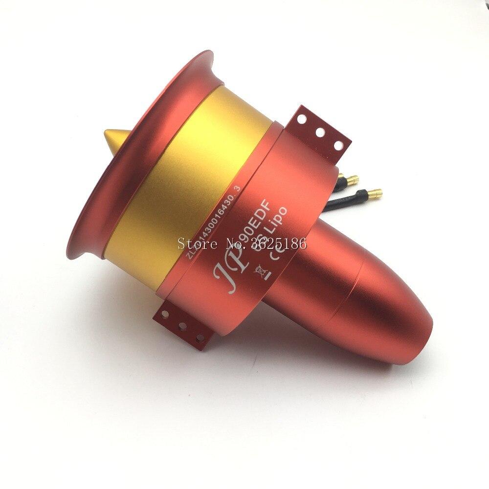 1 zestaw efr w całości z metalu wentylator kanałowy JP 90mm z trzy możliwości silnik 4250 KV1750 6S KV1330 8S 10S KV1050 12S silnika do silników odrzutowych RC w Części i akcesoria od Zabawki i hobby na  Grupa 1