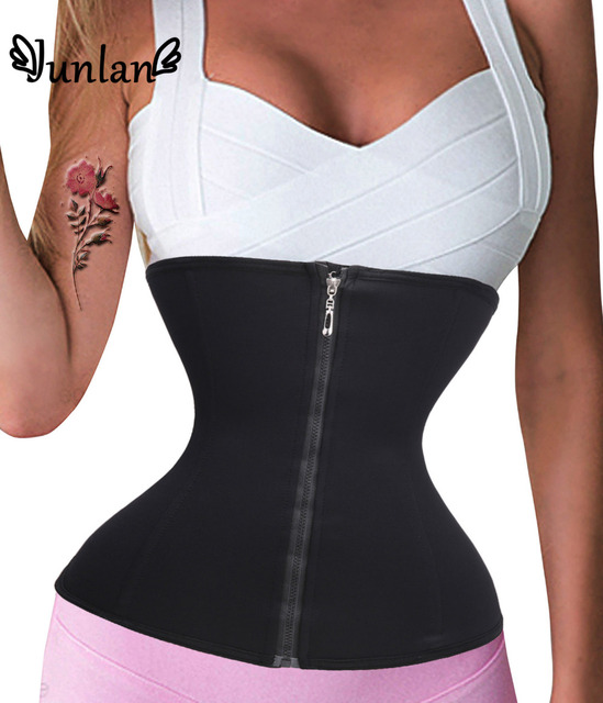 Zipper Hooks Waist Trainer Long Torso Slimming Belt Belly Tracksuit For Bodysuits Women Body Shaper Control Corsets Tummy Girdle