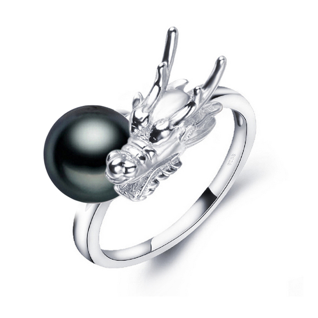 Women Freshwater Black Pearl Ring
