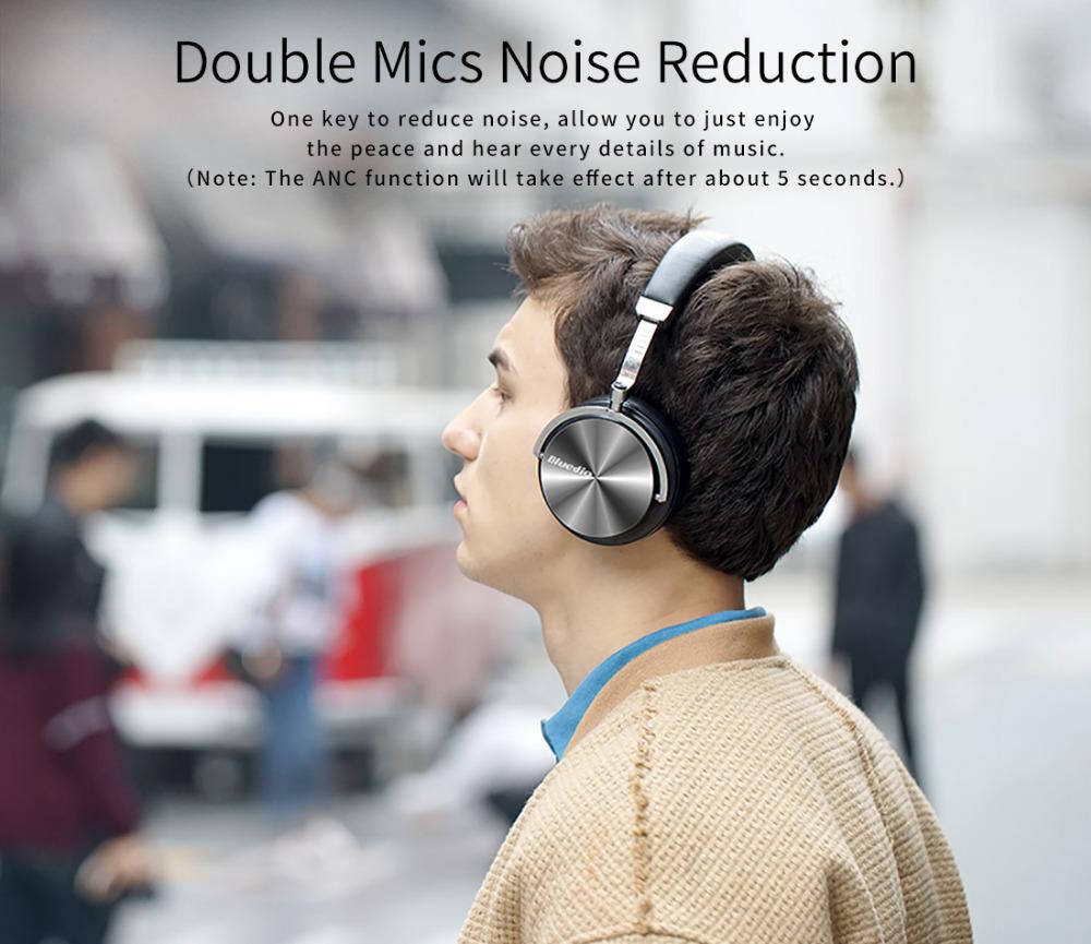 T4 bluedio aktywny hałasu anulowanie słuchawki bezprzewodowe bluetooth bezprzewodowy zestaw słuchawkowy z mikrofonem 7
