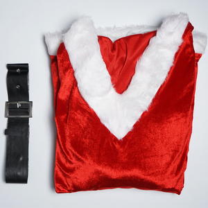Image 5 - הגעה חדשה חג המולד שמלת נשים חג מולד תלבושות למבוגרים 2017 אדום קטיפה פרווה שמלות סלעית סקסי נקבה סנטה קלאוס תלבושות