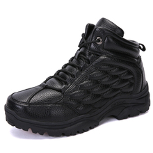 2019 Winter Men Boots With Plush Waterproof Snow Boots Warm Casual Work Safety Comfortable Shoes Indestructible Ankle Shoes New
