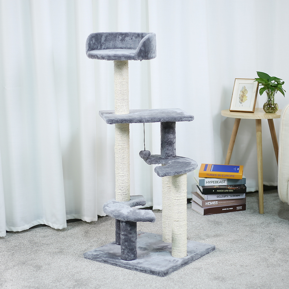 drapak dla kota H116 Cat Toy Scratching Wood Climbing Tree Cat Scratching Post  Jumping Toy Ladder
