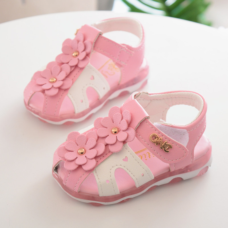 Cute Baby Shoes for Girls Sandals Shoes New Spring Flowers ...