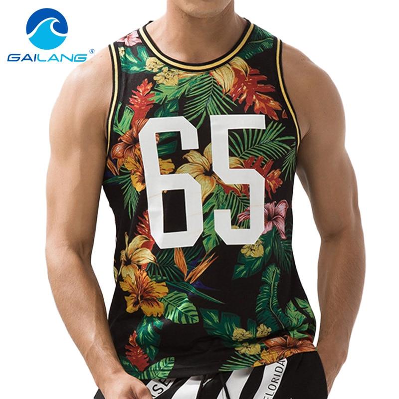Gailang Brand Men Tank Top T Shirt Sleeveless Cotton Mens