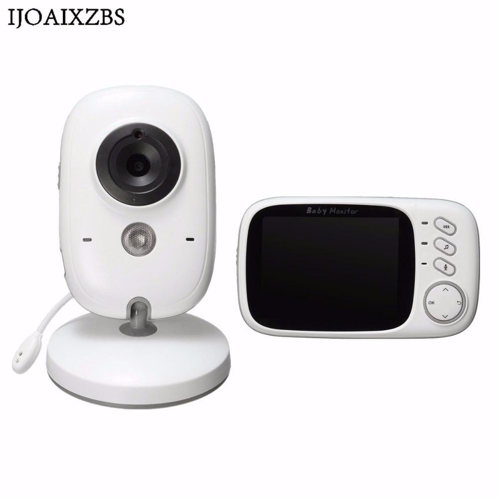 Draadloze Babyfoon Safurance 3.2 inch LCD 2 Way Audio 5 M IR Temperatuur Muziek Slaapliedjes Draagbare Recharge Baby Camera