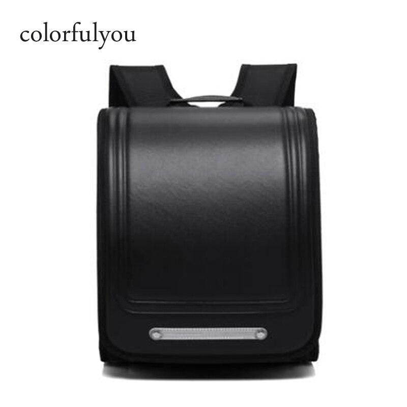 Colorfulyou marque 2019 nouveaux sacs d'école sac à dos orthopédique pour garçons et filles imperméable PU Randoseru sac à dos japon étudiant sac