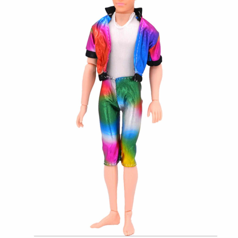 4 definir Calças Jaqueta de Moda Casual Roupa Da Boneca Roupas e Acessórios Para Homens Boy Ken Boneca para Barbie Dolls Kids Aniversário Xmas presentes