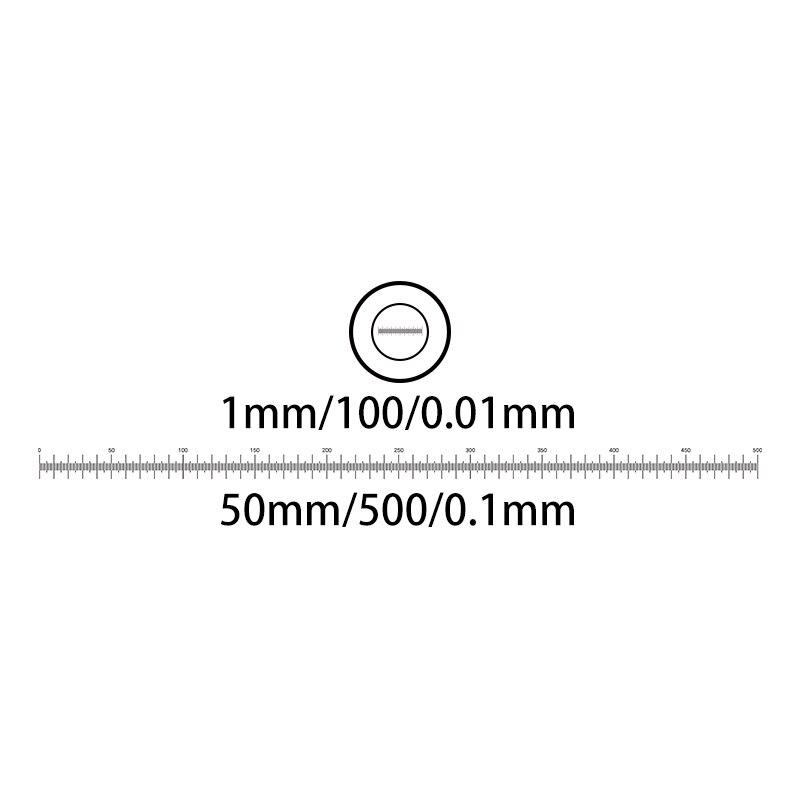 Microscope Measurement Glass Micrometer Calibration Slide Scale Ruler DIV 0.01 mm 0.1 mm Microscope Stage цена