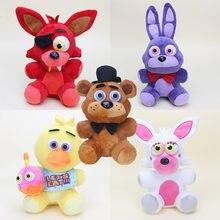 25cm cinco noches en Freddy 4 felpa juguetes Freddy Fredbear Bonnie Chica Mangle astuto oso juguetes de peluche muñeca de los niños