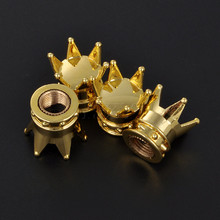 4Pcs/lot Universal Car Tire Wheel Valve Cap Tyre Air Stems Crown Dust Cover For Fiat Audi Ford Bmw VW opel Car Moto Bike Styling