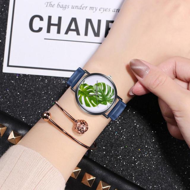 2018 פשוט יפה אנלוגי גבירותיי שעוני יד טמפרמנט מזכרות יד שעון בנות אופנה נשים של קוורץ עגול שעונים # D