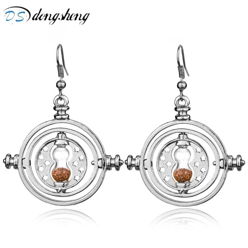 Dongsheng HP Drop fülbevaló aranybevonatolási idő Turner tervezés Homokóra Dangle fülbevaló nőknek Ékszer kiegészítők Ajándékok-30