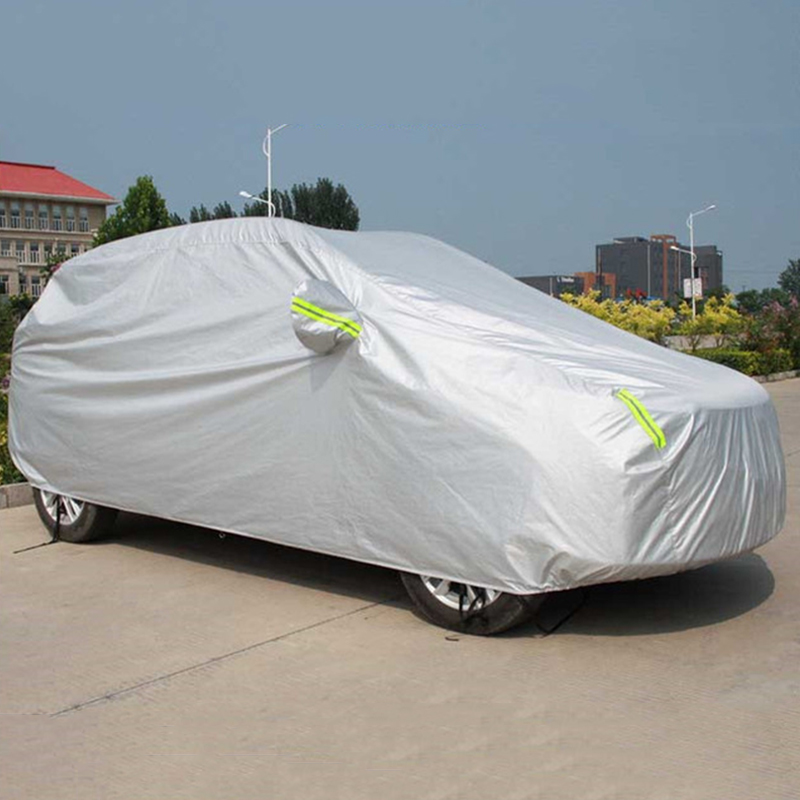 Image 3 - Universal SUV/Sedan Full Car Covers Outdoor Waterproof Sun Rain Snow Protection UV Car Umbrella Silver S XXL Auto Case Cover-in Car Covers from Automobiles & Motorcycles
