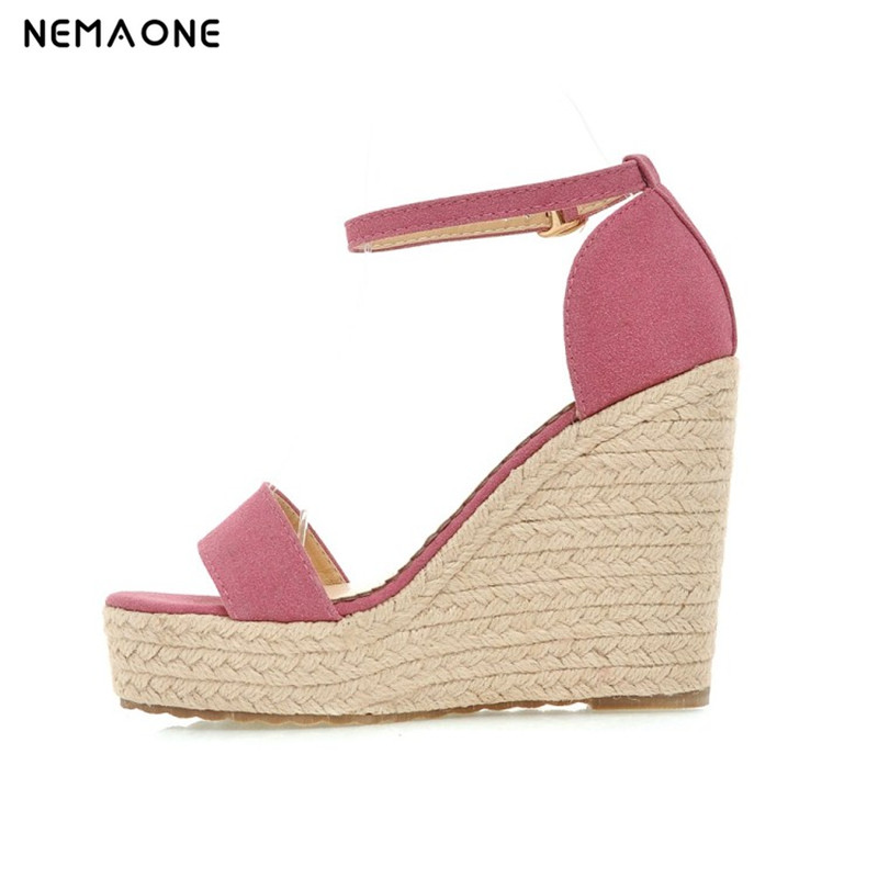 NEMAONE New 2017 Women Sandals Summer Style Shoes Woman Platform Sandals Women Casual Open Toe Wedges Sandals Women Shoes mudibear women sandals pu leather flat sandals low wedges summer shoes women open toe platform sandals women casual shoes