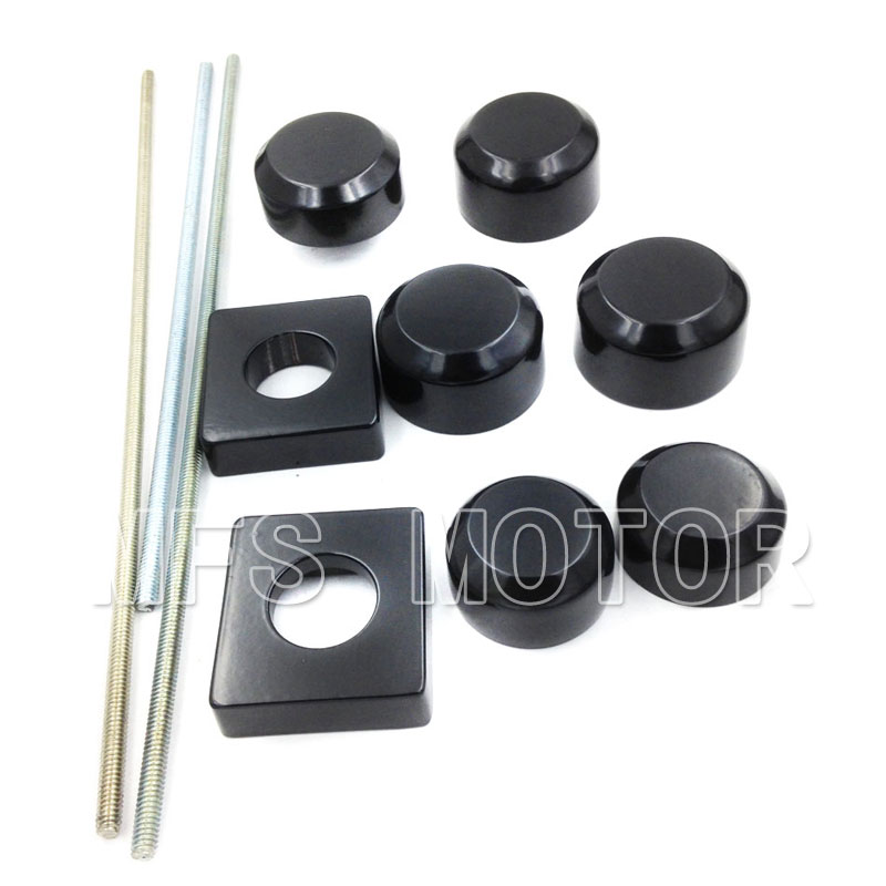 Motorcycle Part Axle Caps Cover For Suzuki GSX-R GSXR600 GSXR750 2006-2007 GSXR1000 2005-2008 Motorcycle Black aftermarket free shipping motorcycle parts for motorcycle 2006 2007 suzuki gsxr 600 750 2005 2008 gsx r 1000 chrome