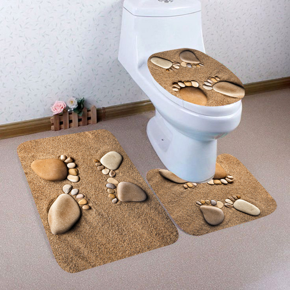Cool Us 4 03 16 Off 3Pcs Set Christmas Bathroom Toilet Lid Carpet Christmas Wc Decorations Novelty Cartoon Design Toilet Seat Cover Bath Mat Set In Gmtry Best Dining Table And Chair Ideas Images Gmtryco