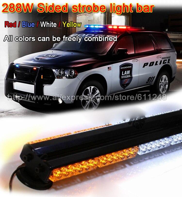 288 Вт 47 дюймов супер яркий автомобиль крыши LED стробоскопы бар Полиция чрезвычайных Предупреждение пожарный флэш 12 В красные, синие светодио