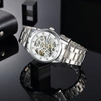 TIME100 - Mechanical Self Wind Skeleton Watch Stainless Steel 4