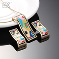 R&X Fashion Necklace/Earrings F252-f257 Girls Jewelry Sets Anniversary Fine Costume Sieraden Sets Enamel Jewelry Necklace Set CC