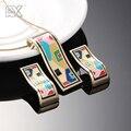 R & X Moda Collar/Pendientes F252-f257 Girls Sistemas de la Joyería del Aniversario De Fantasía Fina Sieraden Establece Esmalte Collar de La Joyería Conjunto CC