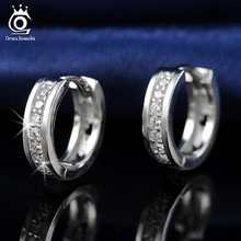 ORSA New Arrival Classic Silver Earring for Ladies Platinum Plated Fashion Ear Jewelry for Women Wholesale OE101