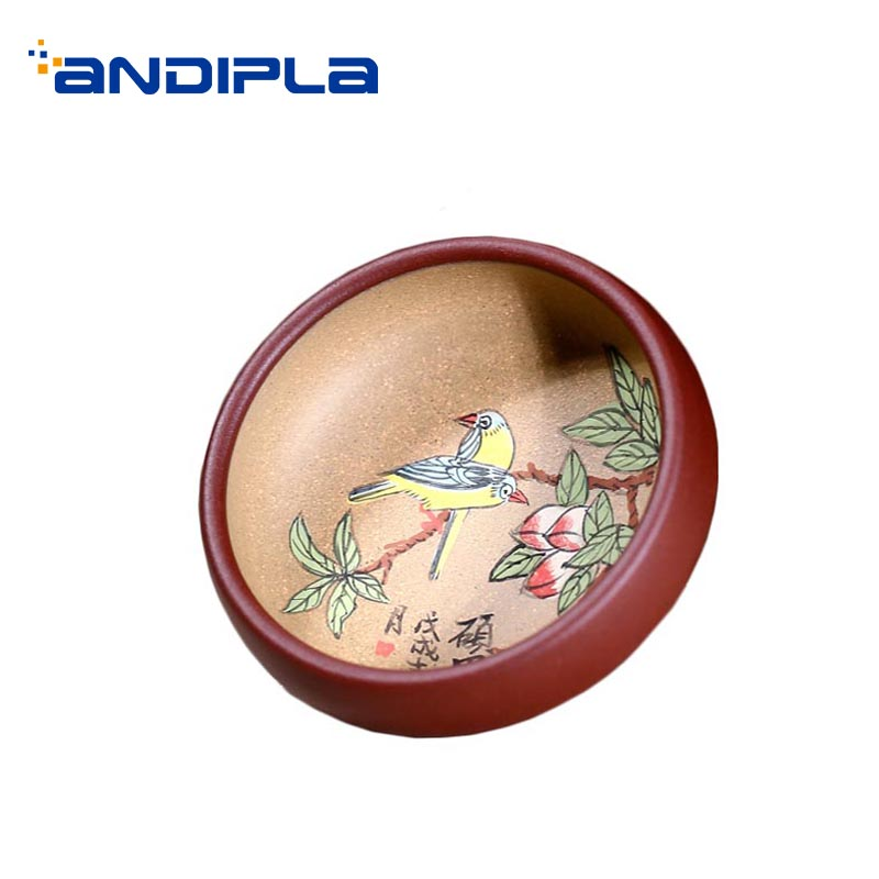70ml Yixing Purple Clay Teacup Hand Painted Art Pattern Zisha Cups Home Tea Ceremony Decoration Collection Small Tea Bowl Cup