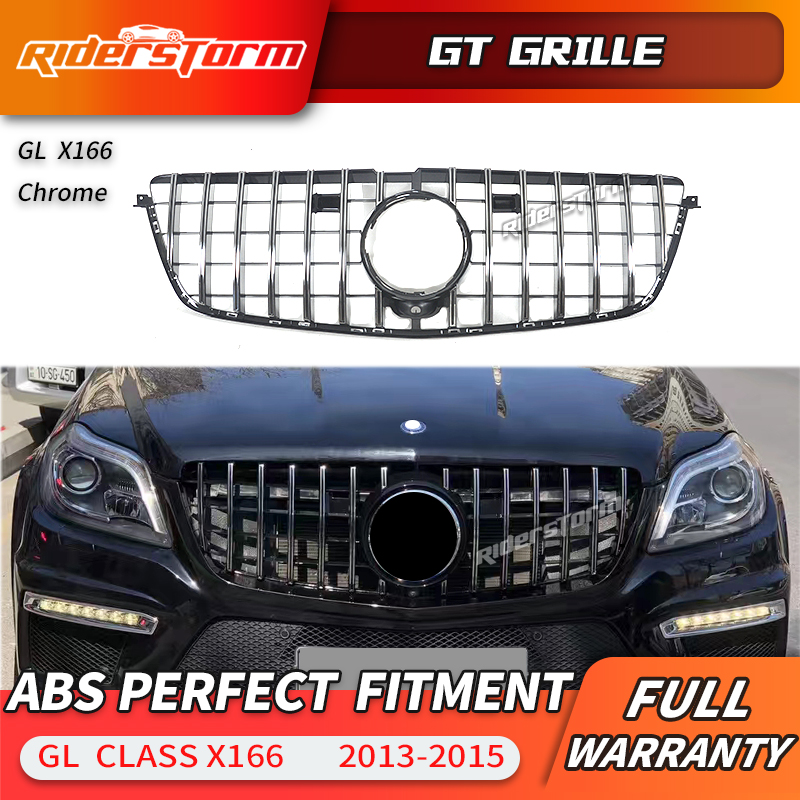 GL Class  GT Grill Vertical Style For Mercedes Benz X166 SUV Auto  2013-2015 GL350 GL400 GL500 Facelift grilleGL Class  GT Grill Vertical Style For Mercedes Benz X166 SUV Auto  2013-2015 GL350 GL400 GL500 Facelift grille