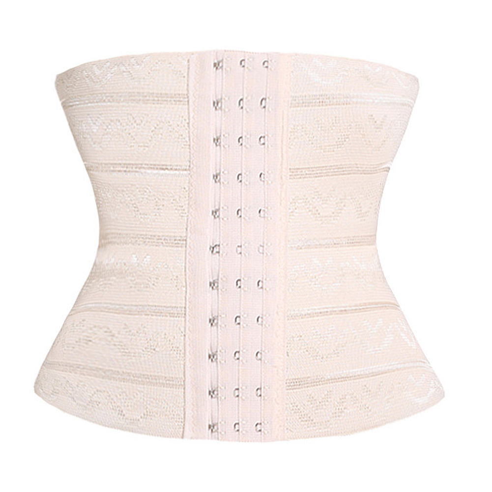 Women Exercise Rubber Underbust Cincher Corset Correction Elastic 3 Breasted Buckle Modeling Multifunction Weight Loss