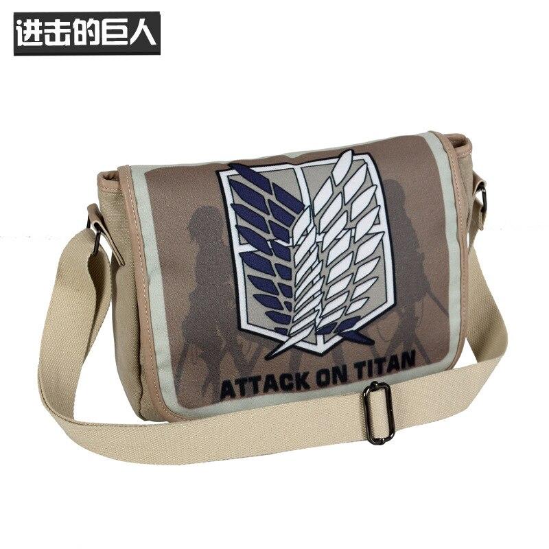 Anime Attack On Titan Tote Canvas Shoulder Handbag Bag Casual Messenger Travelling School Students Book Laptop(China)