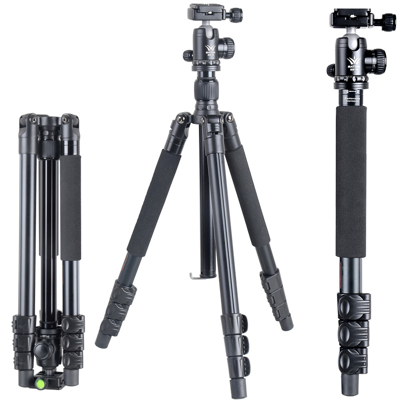 Free shipping Matton T-254+BM-10 Aluminum Professional Tripod for camera stand / DSLR video tripods free shipping matton t 254 bm 10 professional photographic travel compact aluminum tripod for digital video mirrorless camera