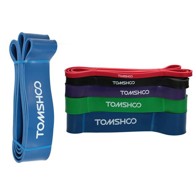 TOMSHOO 208cm Resistance Bands Fitness Equipments Workout Loop Pull Up Assist Stretch