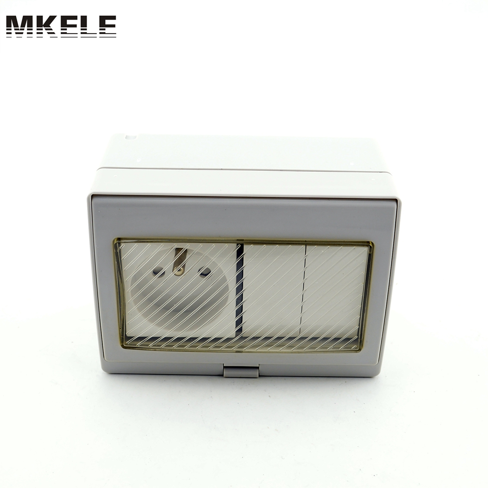 Hot Sale Cheap Price MK-SBFR2S CE Certificate Quality-assured Outdoor PVC Electrical Waterproof 2 Gang Switch And Socket Box hot sale 16inch waterproof oil price led digital number display screen sign panel from china