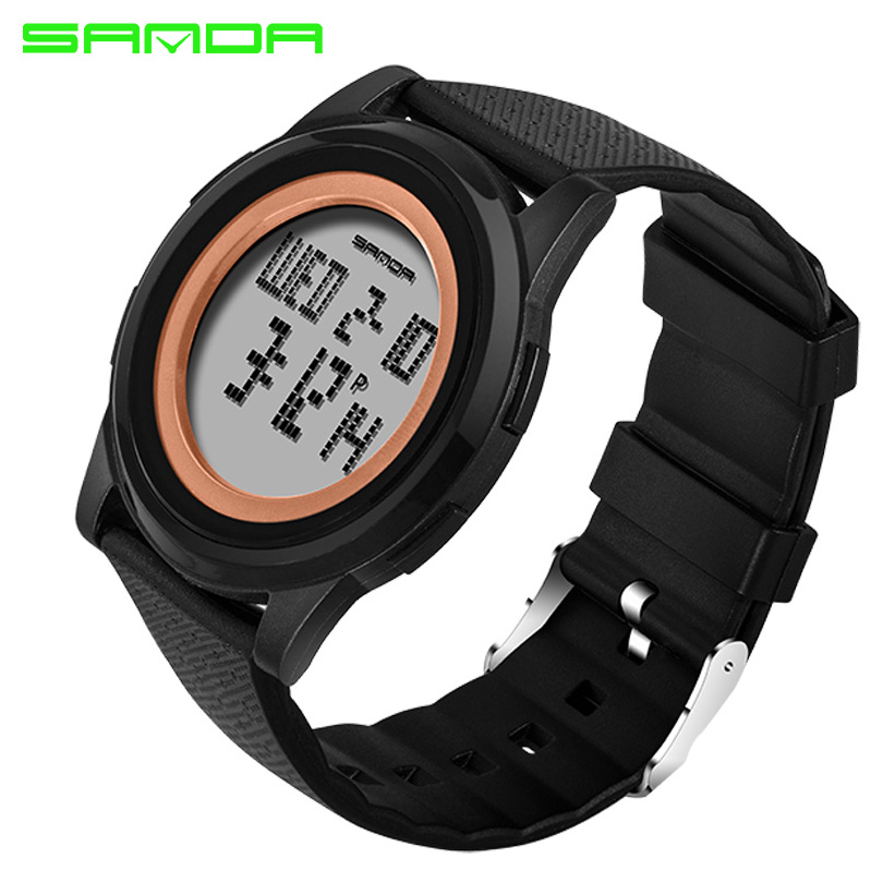 SANDA Sport Wrist Watch Women Watches Ladies Brand Famous Electronic LED Digital Wristwatches For Female Clock Relogio Feminino