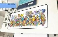 Pokemons коврик для мыши геймер высокого класса 700x300x2 мм notbook коврик для мыши игровой коврик для мыши большой с обработанным краем коврик для мыш...